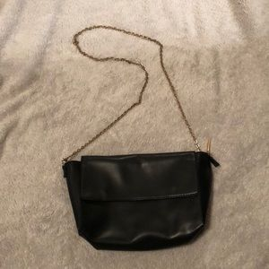 Black H&M leather purse